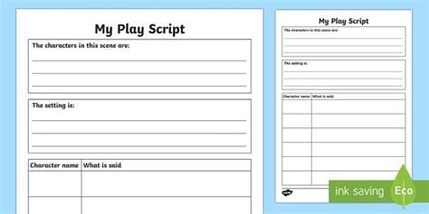 Play Script Writing Templates
