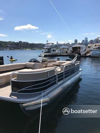 Pontoon Boat Rental Seattle Wa by Rent A Sun Tracker By Tracker Marine Barge 22 Dlx W