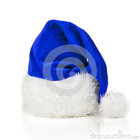 blue santa claus hat stock photo image 27842820