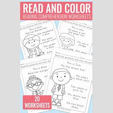 Read And Color Reading Comprehension Worksheets For Grade 1 And Kindergarten  Easy Peasy Learners