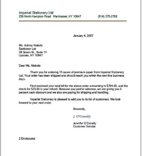 modified block business letter format sle business letter