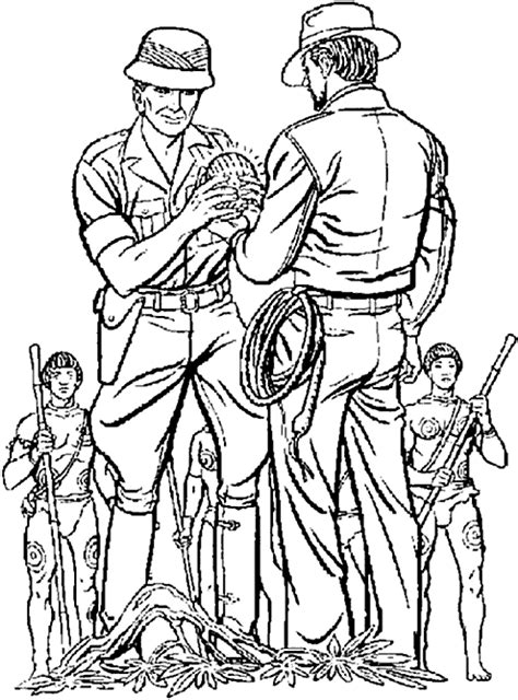 Indiana Jones coloring pages printable games | 640x474