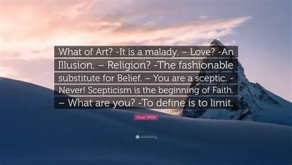 Wilde Oscar Quote Illusion Brave Religion Gorman