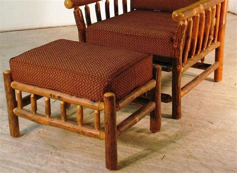 asheville ottoman hickory furniture lodge craft