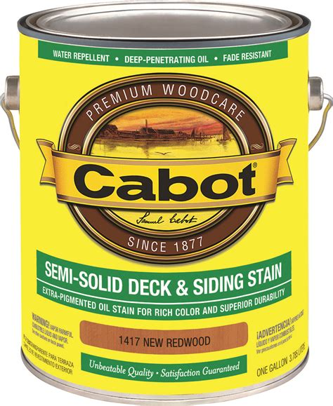 cabot valspar  stain semi solid oil exterior redwood