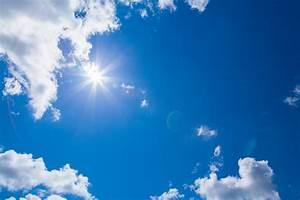 Soleil nuages ciel bleu Photo stock libre - Public Domain ...