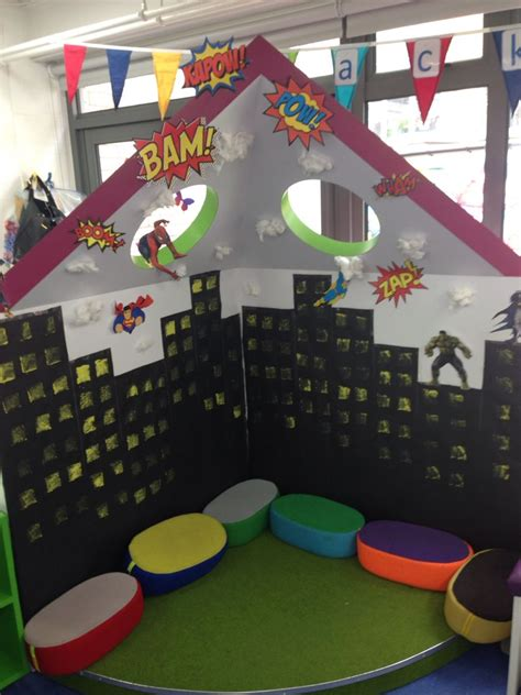 Superhero Role Play Area  Creative Classroom Ideas  Pinterest  Role Play Areas, Play Areas
