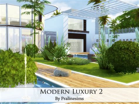 Modern Luxury 2 House By Pralinesims At Tsr » Sims 4 Updates