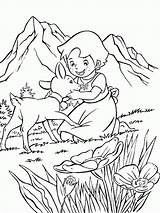 Heidi Coloring Pages Print Movie sketch template