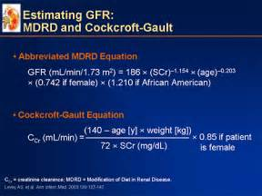 Cockcroft Gault Equation Pictures Creatinine