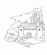Coloring Pages Castle Drawing Colouring Castles Medieval Line Da Drawings Vbs Pirate Printable God Colorare Crafts Princess Summer Winter Mural sketch template