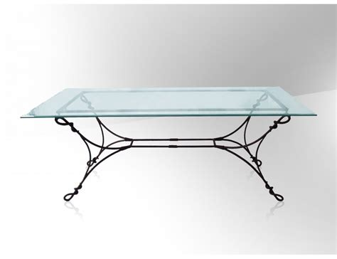 table basse fer forge plateau verre ezooq