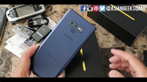 unboxing samsung galaxy note 9 blue