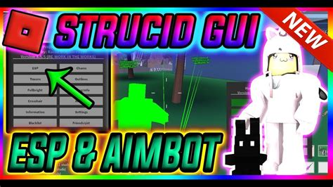 script strucid gui aimbot esp chams god mode