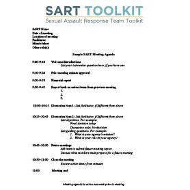 sample sart meeting agenda national sexual violence