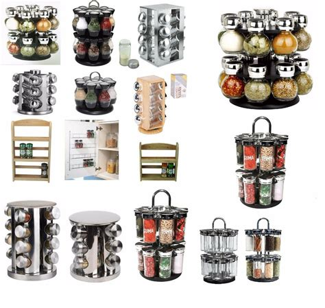 Spice Rack Holder by Spice Herb Spices Storage Rack Wall Mounted Free Standing