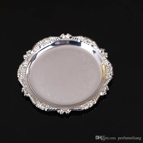 luxury gold plated snack dish silver plated small dessert plate cake serving tray