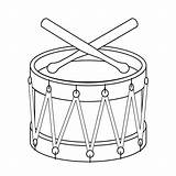 Drum Coloring Drums Drawing Toy Pages Line Percussion Christmas Printable Outline Music Toys Template Coloringpages Clipart Templates Drawings Clip Drumsticks sketch template
