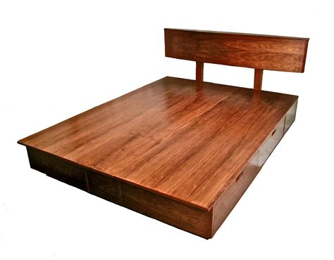 Hand Crafted Derby Platform Bed With Storage By Brushaber