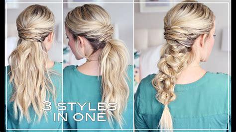 three easy hairstyles youtube