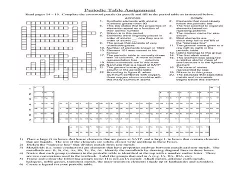 Periodic Table Of Elements Worksheet Middle School The