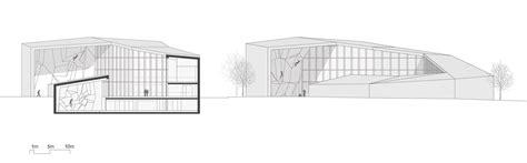 grundriss schnitt ansicht kletterhalle in bruneck flachdach kultur und freizeit baunetz wissen