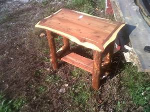 log cabin style end table deep south cedar products store With log cabin style coffee tables