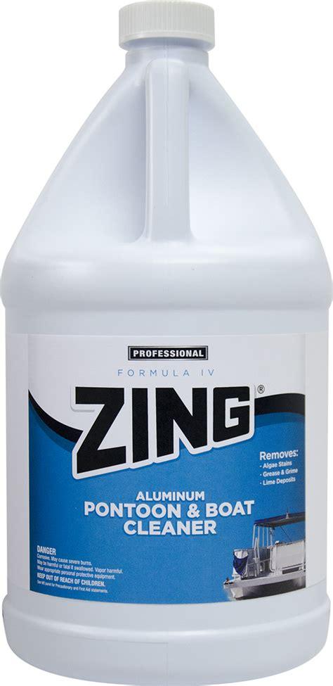 zing formula iv aluminum pontoon boat cleaner  nyco