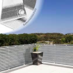 sonnensegel balkon balkon sichtschutz grau weiß gestreift 90x500cm dayton de