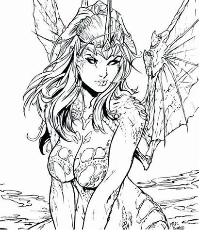 Fantasy Coloring Pages Detailed Colouring Printable Getcolorings