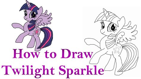 pony twilight sparkle drawing  getdrawings