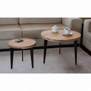 Table Basse Gigogne : table basse gigogne chene le bois chez vous ~ Zukunftsfamilie.com Idées de Décoration
