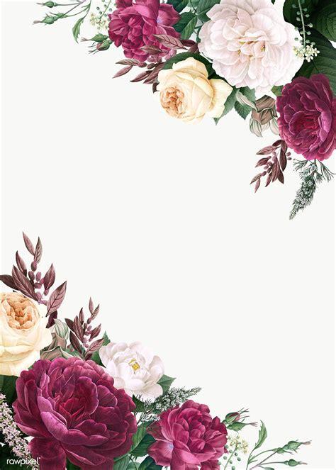 floral design wedding invitation mockup royalty