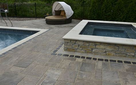 Unilock Beacon Hill Pavers by Pavers And Wall Block Harken S Landscape Supply Garden