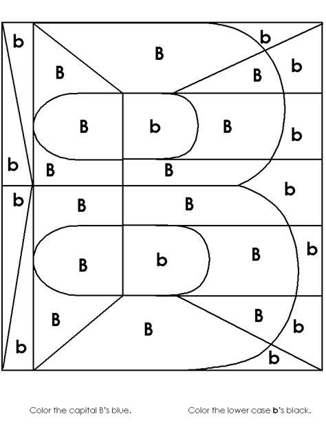 letter b worksheets image worksheet alphabet recognition