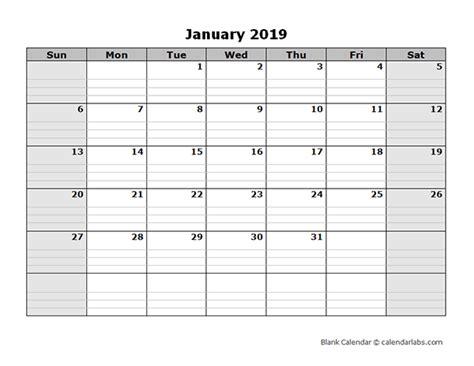 blank calendar  printable templates