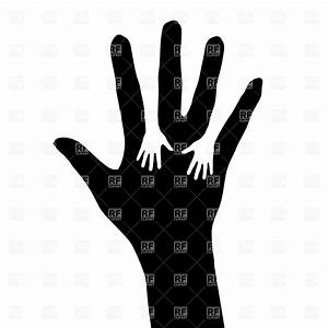 Helping hand - palm silhouette Royalty Free Vector Clip ...