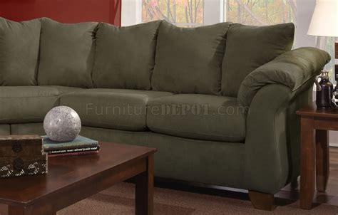 olive microfiber modern sectional sofa woptional items
