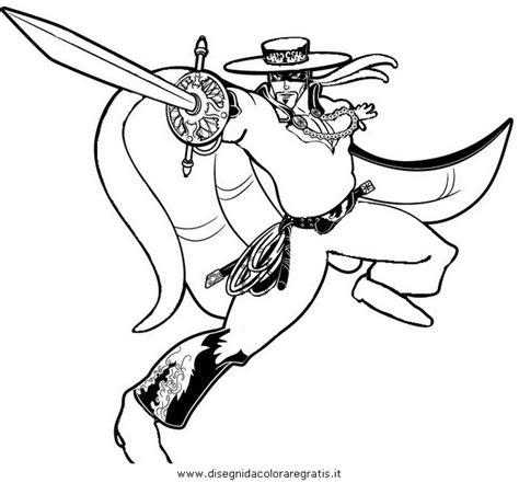 disegni da colorare di zorro disegno zorro 16 personaggio cartone animato da colorare
