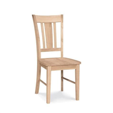 Unfinished Slat Back Dining Chair (Set of 2)   C 10P