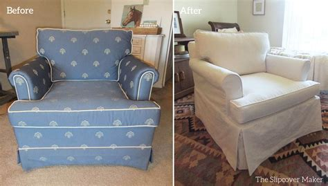 slipcover makeover for outdated ethan allen chair the
