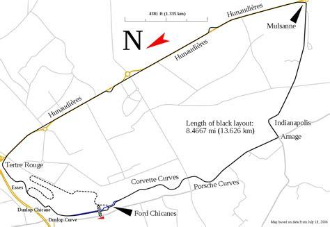 Circuit De La Sarthe Track Map.svg