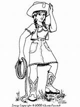 Cowgirl Coloring Printable Drawing Sue Recommended Character Mycoloring Grotto sketch template