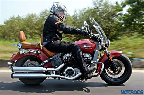 Review Indian Scout by Indian Scout Review The Big And The Small Of It Motoroids