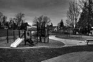 Empty playground stock image. Image of swing, bench ...