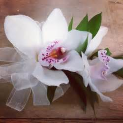 wrist corsages for prom white cymbidium orchid corsage prom