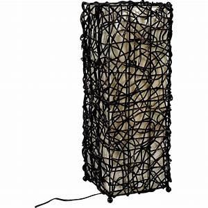 Lampe A Pile A Poser : lampe en rotin ~ Melissatoandfro.com Idées de Décoration