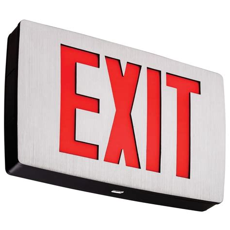 led exit lithonia lighting polycarbonate letter led exit sign