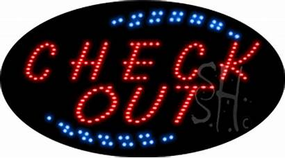 Check Sign Led Animated Signs Hotel Neon