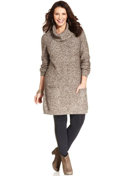 style and co sweaters style co style co plus size marled cowl neck sweater